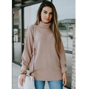 Free People Softly Structured Knit Tunic Sweater M